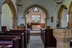 Świętej trójcy Godmanstone Nave, Dorset Obraz Stock