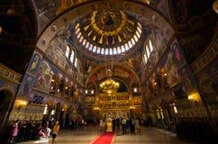 Świętej trójcy kościół w Sibiu, Rumunia Obrazy Stock