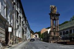 Świętej trójcy kwadrat, Banska Stiavnica, Sistani, UNESCO Zdjęcia Royalty Free