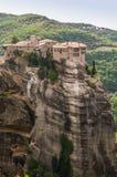 Świętej trójcy monaster w Meteor kołysa, znaczyć zawieszam w powietrze w Trikala, Grecja Obrazy Stock