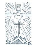 Świętej trójcy ręka rysująca ilustracja royalty ilustracja