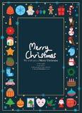 Święto Bożęgo Narodzenia wokoło ramy royalty ilustracja