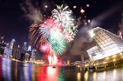 Święto Państwowe fajerwerku pokazy przy LV Zdjęcie Stock