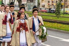 Święto Państwowe parada w Arad, Rumunia Obrazy Stock