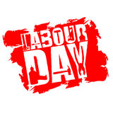 Święto Pracy emblemat grunge styl Międzynarodowa pracownika ` dnia bela Zdjęcia Stock