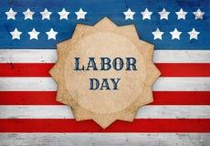 Święto Pracy flaga amerykańska, patriotyczny tło Zdjęcie Stock