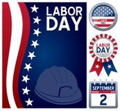 Święto Pracy set Zdjęcie Stock