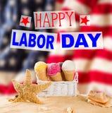 Święto Pracy sztandar, patriotyczny tło Obraz Royalty Free
