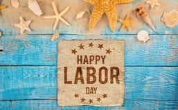 Święto Pracy sztandar, patriotyczny tło Obrazy Stock