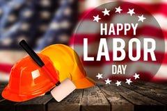 Święto Pracy sztandar, patriotyczny tło Zdjęcia Stock
