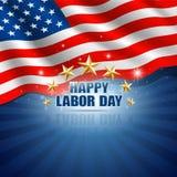Święto Pracy w Amerykańskim Tle ilustracji