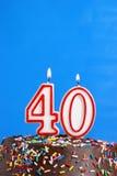 Świętować Czterdzieści rok zdjęcie stock