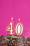 Świętować Czterdzieści rok zdjęcie royalty free