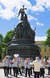 Świętować dzień Rosja w Novgorod Kremlin Obrazy Royalty Free