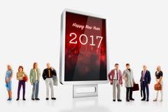 Świętować nowego roku 2017 Obraz Stock
