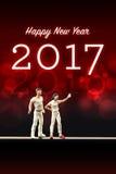 Świętować nowego roku 2017 Obrazy Stock