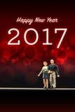 Świętować nowego roku 2017 Zdjęcia Royalty Free