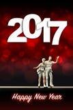Świętować nowego roku 2017 Zdjęcia Stock