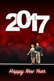Świętować nowego roku 2017 Zdjęcie Stock