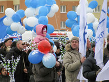 Świętować zwycięstwo dzień na Maju 9 Rosja zdjęcia royalty free