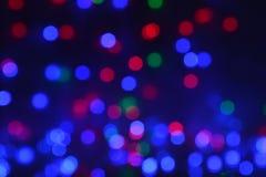 Świętowania bokeh zaświeca tło Fotografia Royalty Free