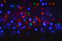 Świętowania bokeh zaświeca tło Fotografia Stock