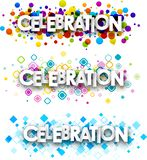 Świętowania colour sztandary royalty ilustracja