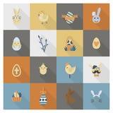 Świętowania Easter ikony Zdjęcia Stock