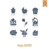 Świętowania Easter ikony Zdjęcia Royalty Free