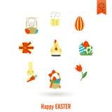 Świętowania Easter ikony Obraz Royalty Free