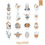 Świętowania Easter ikony Obraz Stock