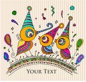 Świętowania karta, wszystkiego najlepszego z okazji urodzin/zapraszamy, karta/ royalty ilustracja