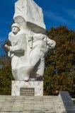 Świętowania na cześć rocznicę wyzwolenie od Nazistowskich najeźdźc w pomniku w wiosce Ilinskoe w Kaluga reg Obraz Royalty Free
