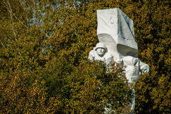 Świętowania na cześć rocznicę wyzwolenie od Nazistowskich najeźdźc w pomniku w wiosce Ilinskoe w Kaluga reg Zdjęcie Royalty Free