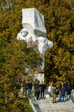 Świętowania na cześć rocznicę wyzwolenie od Nazistowskich najeźdźc w pomniku w wiosce Ilinskoe w Kaluga reg Fotografia Stock