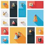 Świętowania partyjny płaski ui z długim cieniem, eps10 Obraz Royalty Free