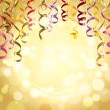 Świętowania tło Z Streamers Fotografia Stock
