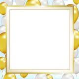świętowanie balonowa rama Zdjęcia Royalty Free