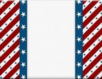 Świętowanie czerwona i Biały Amerykańska rama Obrazy Royalty Free