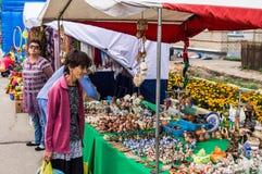 Świętowanie dzień miód w Rosyjskim mieście Medyn, Kaluga region na Sierpień 14, 2016 Zdjęcie Royalty Free