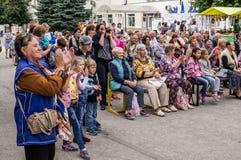 Świętowanie dzień miód w Rosyjskim mieście Medyn, Kaluga region na Sierpień 14, 2016 Zdjęcia Royalty Free