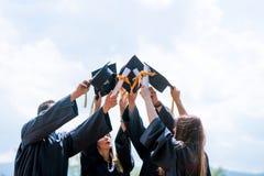 Świętowanie edukaci skalowania Studencki sukces Uczy się Concep obrazy royalty free