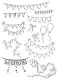 Świętowanie girlandy i chorągiewka ilustracja wektor