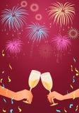 świętowanie grzanka Zdjęcie Royalty Free