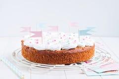 Świętowanie marchwiany tort Fotografia Stock