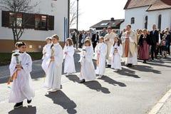 Świętowanie pierwszy święty communion Obraz Stock