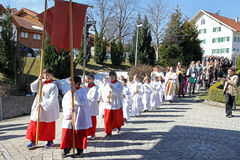 Świętowanie pierwszy święty communion Obrazy Royalty Free