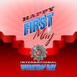 Świętowanie Pierwszy Maj, Międzynarodowy pracownika ` dzień Zdjęcie Royalty Free