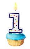 Świętowanie pierwszy rok either dla urodziny Zdjęcie Royalty Free