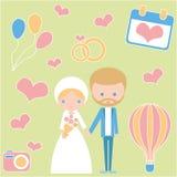 Świętowanie poślubia romantycznej pary miłość ilustracja wektor